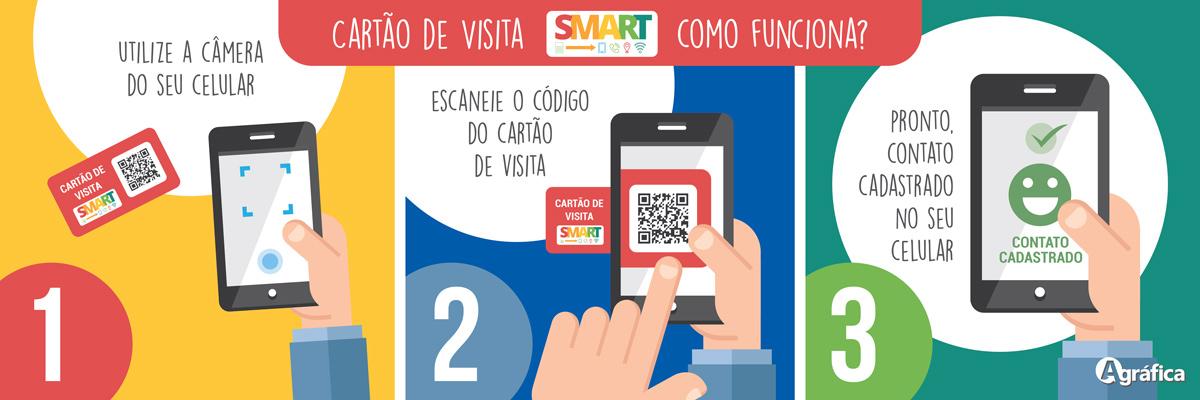 como funciona cartão de visita smart